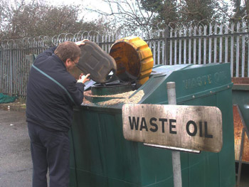 Safe use and disposal of motor oil for How do you dispose of motor oil